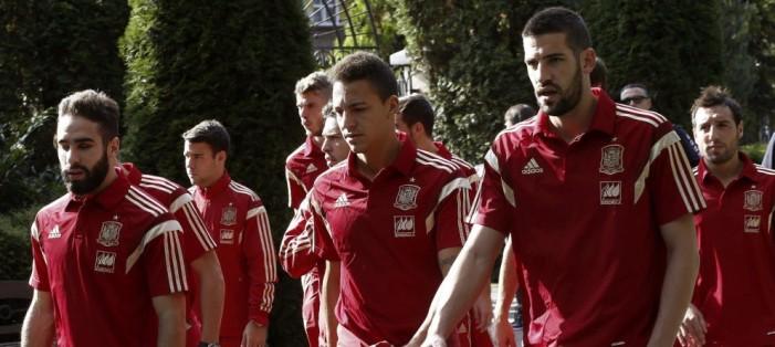 La selección madrileña de fútbol golea