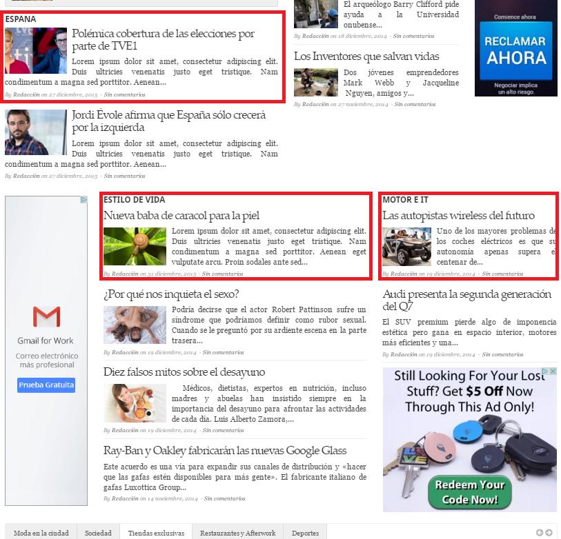 Sección media - noticia o reportaje